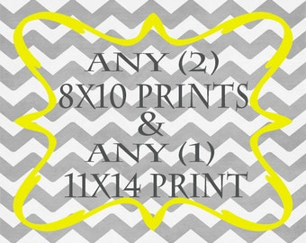 Any (2) 8x10  Prins AND Any (1) 11x14 Print - ANY prints from Rizzle And Rugee