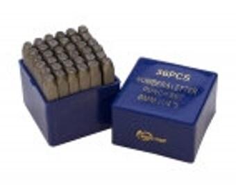 6MM Arial Font Metal Letter And Number Combination Stamp Set- Uppercase- 6mm Steel Stamps- SGPUN105.94