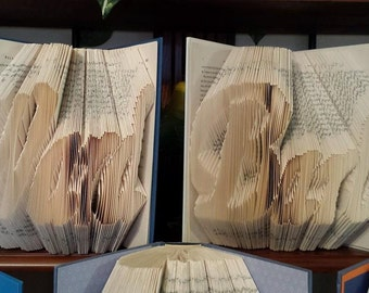 Folded Book Art - Custom Name