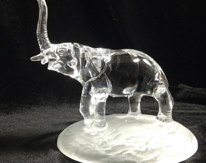Cristal d'Arques Elephant Lead Crystal Figurine