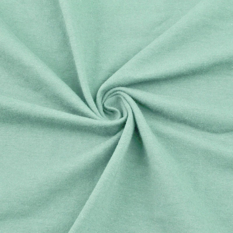 Seafoam pale cotton lycra jersey knit fabric combed 10oz for Lycra fabric