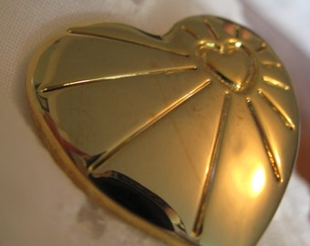 Collectable 1990s Variety Club gold heart brooches/badges in two different designs