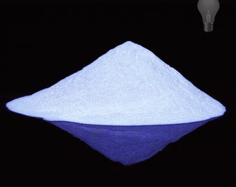 White Glow in the Dark Pigment Powder