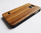 SALE: Wood Samsung Galaxy S5 case. Zebra  wood veneer with plastic chassis.