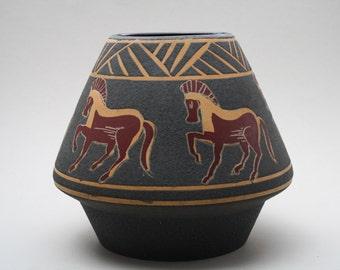 "BAY Keramik ""Troja"" vase with an UFO shape"