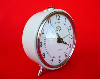 New Old Stock 70's Clock - Vintage Clock - Style Clock - Alarm Clock - Clock - Old Clock - Russian KUCO Original Clock - Winding Clock Nr11