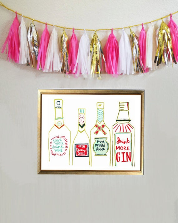 The Bar Cart Print