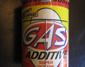 1989 Galoob MICRO MACHINES Car Gas Additive Super Octane Turbo Boost -  Secret Auto Supplies - Playset Gas Station