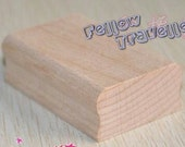 Rectangular Wooden block for own carved eraser stamp - 2 sizes (Ready to Ship)