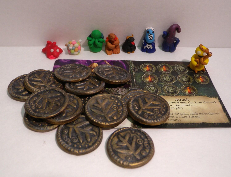 Metal board game tokens / Ethereum tokens 9c video