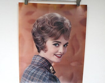 Beauty Salon Wall Decor - Vintage Poster - Hair Salon Decor - Hair Salon Wall Art - Vintage Hairstyle - Hair Style of the Month Poster