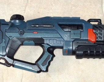 Custom Painted Nerf Rattler Super Soaker Space Gun X-Com Warhammer 40K Cosplay LARP