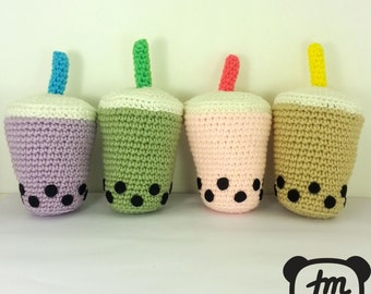 Boba Milk Tea Amigurumi Plush / Bubble Tea