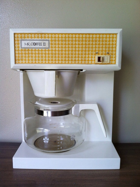 How To Use Vintage Coffee Maker : Vintage Mr. Coffee II Coffeemaker Maker Yellow and White