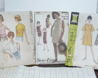 Vintage 1960's Dress and Blouse Patterns