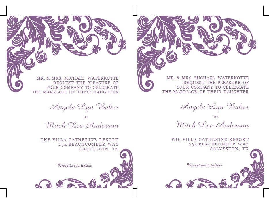 Wedding Invitations Template Word: Wedding Invitation Templates Free Microsoft Word