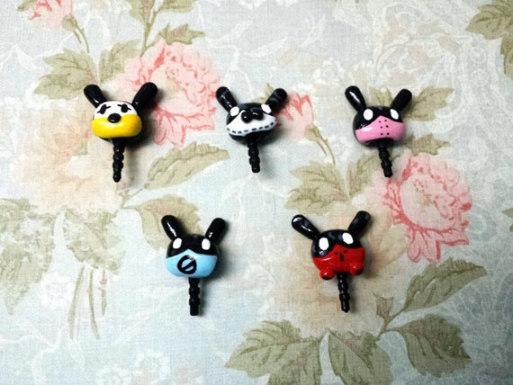 Etsy Plugs And Charms Dust Plug/cell Phone Charm