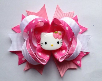 Small hello kitty hair bow