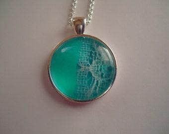Lace Blue Necklace