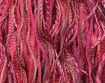 One Off, No.02 Antique Red, Hand Dyed Cotton and Rayon Thread Selection, Creative Embroidery, Canvaswork, Needlepoint,