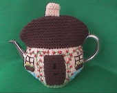 Hand Knit Cottage Tea Cosy