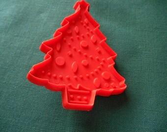 Hallmark Cookie Cutter, A Red Christmas Tree Cookie Cutter,  4 1/8  inch Hallmark