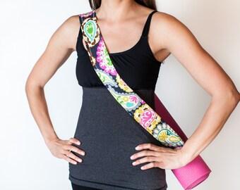 Pretty Paisley Yoga Mat Strap