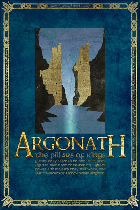 Lord Of The Rings Travel Quotes: The Argonath Travel Poster From The Lord Of The Rings And The