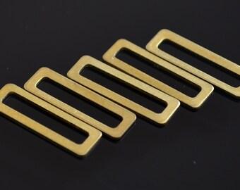 150 Pieces Raw Brass 6x19 mm Rectangular Connector