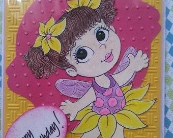 My Big Eyes Birthday Card