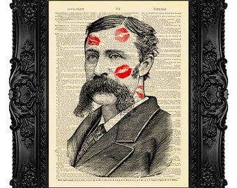 Mustache Art Print Manly Man Mustache Manly Men Gifts for Men Gift for Him Mustache Wall Art Decor Moustache Wall Art Print Poster Decor 456