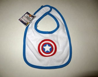 Embroidered Captain America Bib