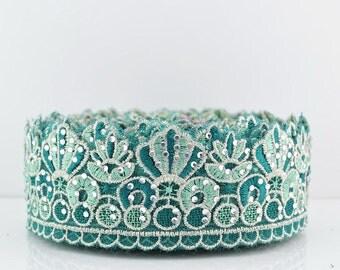 Turquoise glamour etsy for Border lace glam