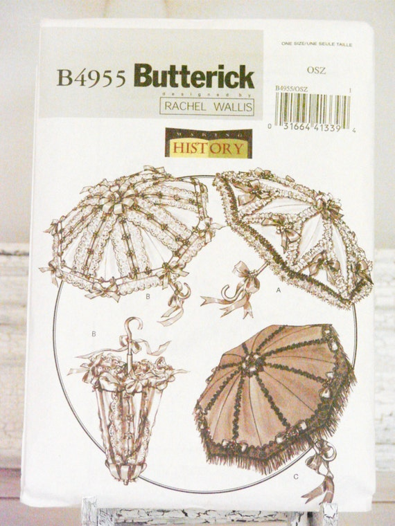 Butterick 4955 Historical Decorated Parasols and Covers Sewing Pattern