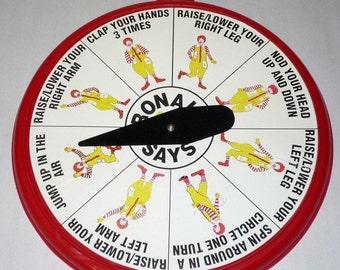 "Rare 1980's McDonald's Restaurant ""Ronald Says Game"" New in Box #34952"