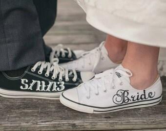 MADE TO ORDER - Bride & Groom Wedding Converse