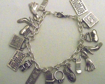 Loves to Shop Charm Bracelet, Shopping is my thing, Rather be Shopping, Shop until I drop