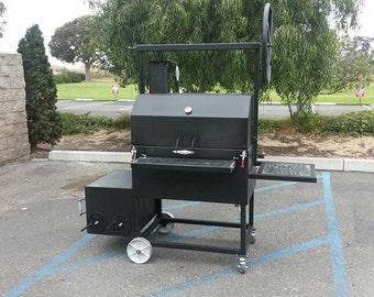 All American Santa Maria BBQ , Reverse Flow Soker, direct heat charcoal Grill