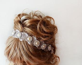 Bridal Hair Accessories, Rhinestone and Pearl Headband, Bridal Headband, Wedding Hair Accessories, Wedding Headband