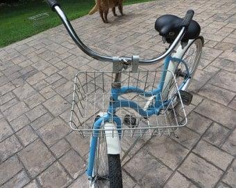 Vintage Metal Front Bike Basket