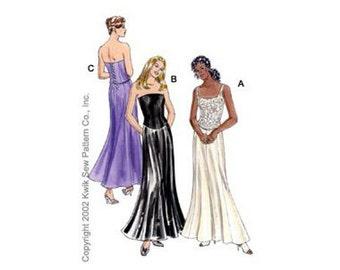 Kwik Sew 3060 Sewing pattern, prom skirt and top pattern, wedding dress pattern, size XS-XL
