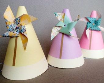 Pinwheel Themed Party Birthday Hats