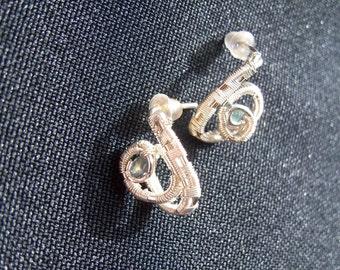 russian alexandrite silver earrings