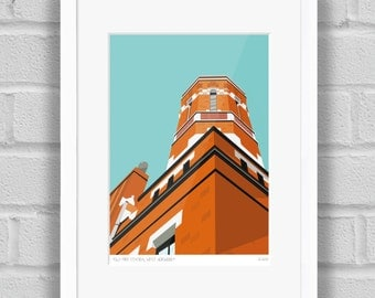 The Old Fire Station, West Norwood, London - Limited Edition Giclée Art Print / Poster
