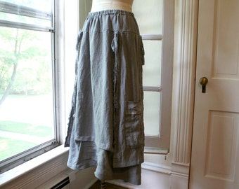 Linen Skirt / 'French Peasant Skirt' / by Breathe Clothing
