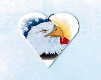 Eagle - Eagle Ornament - Bald Eagle - Patriotic Ornament - Christmas Ornament - Tree Ornament - American Flag - Eagles - Weeze Mace