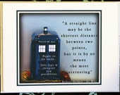 A Straight Line May Be The Shortest Distance Between Two Points But Is By No Means The Most Interesting: Dr Who Tardis Greeting, Gift,Card