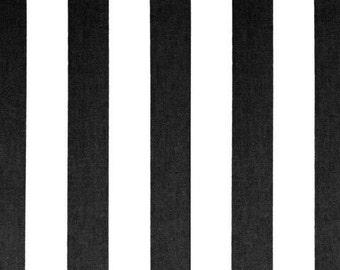 Handmade Table Runner 13W x 72L in Black/White Stripe