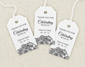 Diy Printable Wedding Favor Tags : Favor Tag Printable, Text Editable, MEDIUM Tag Size, Wedding Tag, Gift ...