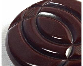 Chunky Bakelite Coat Button, Vintage Bakelite Button, Extra large Coat Button, Button 9